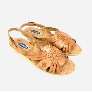 Vintage Dr. Scholl's leather slingback sandals